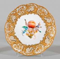 Ceremonial plate with fruit decor