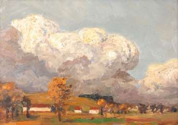 MERRE: landscape with clouds in the sky.