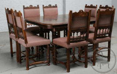 dining room set of furniture of the XIX century