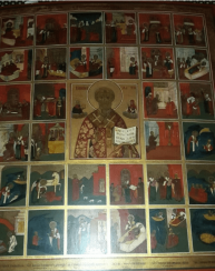 The icon of Nicholas the Wonderworker with scenes from his life 19th century
