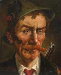 Paul Götz-Räcknitz, Portrait of a hunter