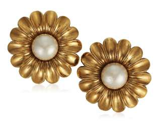 CHANEL FAUX PEARL EARRINGS