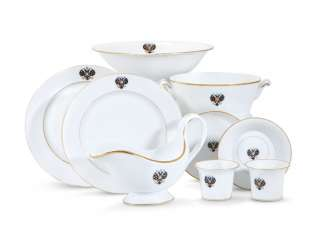 A GROUP OF PORCELAIN TABLEWARE FROM THE ALEXANDER III CORONATION SERVICE