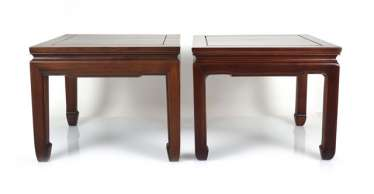 Two Side Tables Made Of Hard-