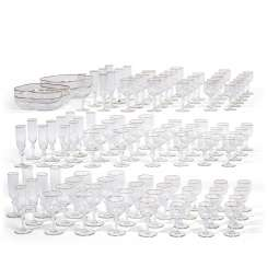 A BACCARAT GLASS PART STEMWARE SERVICE IN THE 'MANON' PATTERN