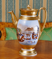The coffeepot Russia, private factory, 1820's - 1830 g