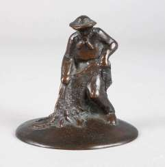 Monogram son of C. B., small bronze fishing with a net