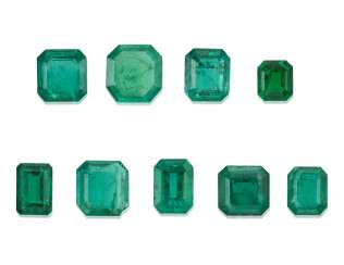GROUP OF UNMOUNTED EMERALDS