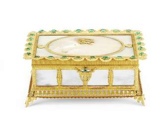 A CHARLES X 'PALAIS-ROYAL' MOTHER-OF-PEARL, ORMOLU AND PASTE...