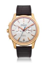ZENITH, 18K PINK GOLD CAPTAIN CHRONOGRAPH, EL PRIMERO, LEFT-HANDED, MADE UNIQUE FOR ONLY WATCH 2011