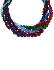 MICHELE DELLA VALLE MULTI-GEM TORSADE NECKLACE