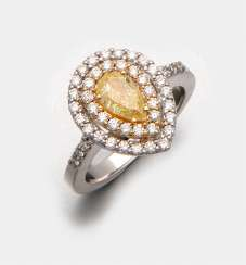 Hochfeiner Natural Fancy-Yellow-Diamantring