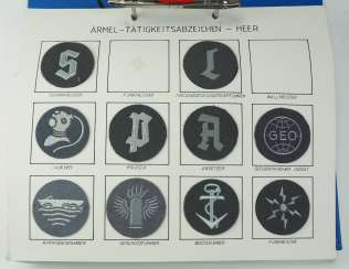 Bundeswehr: collection of badges of activity.