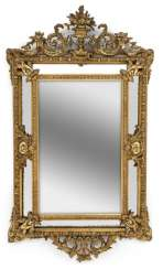 A Large Wall Mirror. Baroque Style, 19th Century. Century