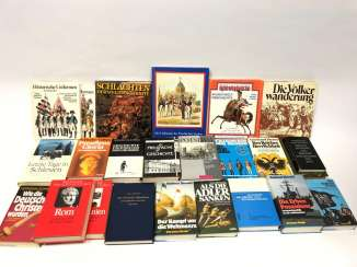 Very large Items of military literature. 23 books Militaria very well.