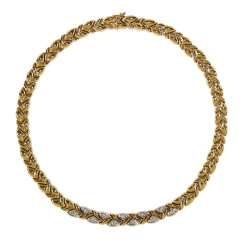 Diamond necklace 585 yellow gold