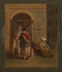 Street scene with a milk seller