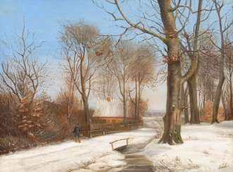 Unsigned: Sunny Winter Landscape.