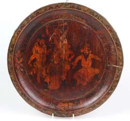 Asian wooden plate around 1900