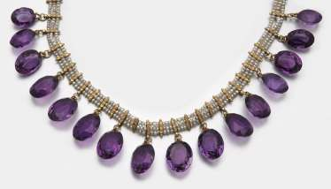 Victorian amethyst necklace