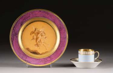 PLATE AND CUP WITH SAUCER