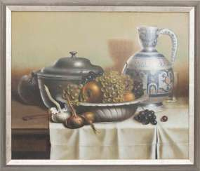 CONV. GEORGES COULON, fruit still life, Oil/ canvas, 20. Century