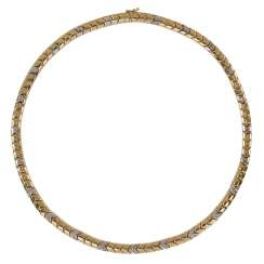 Diamond necklace 585 yellow gold / WG