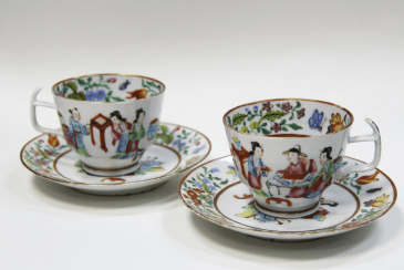 A pair of cups and saucers China 18th century