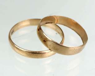 Pair of wedding rings yellow gold 333