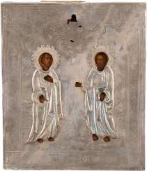 ICON OF THE APOSTLES PETER AND PAUL WITH SILVER OKLAD