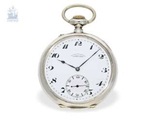 Pocket watch: extremely rare A. Lange & Söhne Anchor chronometer No. 89948, Observation chronometer, CA. 1935, with the master excerpt from the book