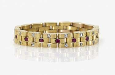 Bracelet with diamonds and rubies. Vienna, around 1910