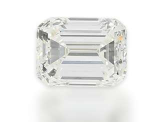 Diamond: precious diamond in Emerald-Cut, 1,10 ct, including DPL certificate from Idar-Oberstein