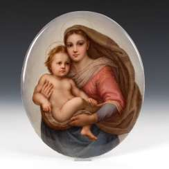 Porcelain Painting: The Sistine Madonna,