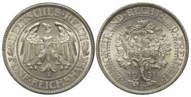 GERMANY 5 MARKS 1931 F