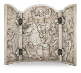 Ivory relief plaque with the ascension of Christ