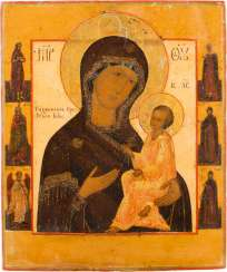 A FINE ICON OF THE MOTHER OF GOD OF TIKHVIN (TICHWINSKAJA)