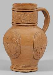 Rare jug with coat of arms decor by Jan Emmens Mennicken