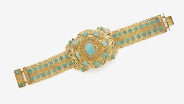 Bracelet with Turquoise. Germany, around 1830