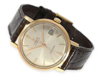 Watch: vintage Omega Seamaster with sector dial, 18K rose gold, 1950s