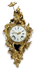 A LOUIS XV ORMOLU QUARTER-STRIKING CARTEL CLOCK