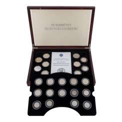 24 silver coins of the German Empire in an elegant wooden box –
