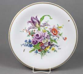 Meissen plate * bouquet of flowers with insects *