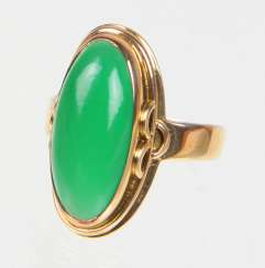 Green Ring - Yellow Gold 333 Agate