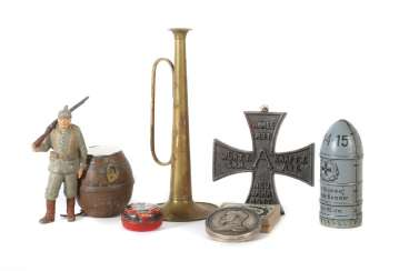 kl. Mixed lot of souvenir utensils from WWI