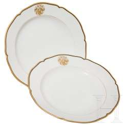 Hermann Göring - two plates, from his KPM dinner service