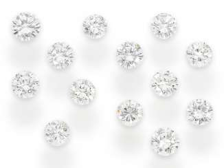 Set of brilliant-cut diamonds of the finest quality brilliant: a total of approx. 3,08 ct