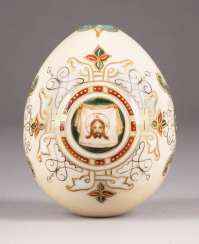 LARGE EASTER EGG WITH MANDYLION AND BRAIDING CARTRIDGES Russia