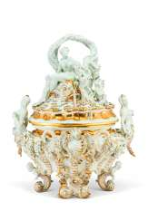 A MEISSEN PORCELAIN 'SWAN SERVICE' FIGURAL TUREEN AND COVER