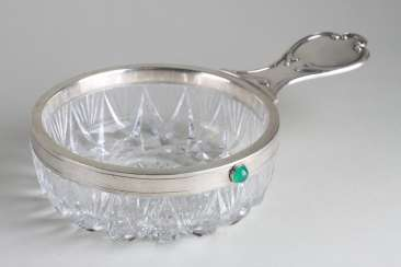 Ladle crystal with silver accents. Russia, n of the 20th century.